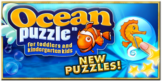 Ocean puzzle HD for kids and toddlers